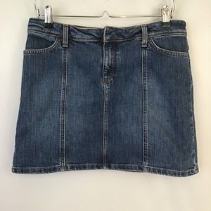J. Crew Stretchy Denim Jean Mini Skirt